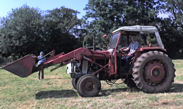 Parking the tractor