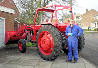 Stephen with the finished tractor